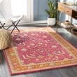 Product Image of Pink, Yellow, Denim, Orange (FIR-1000) Traditional / Oriental Area Rug
