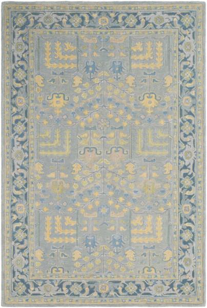 Sage, Teal, Saffron, Silver Grey (FIR-1001) Traditional / Oriental Area Rug