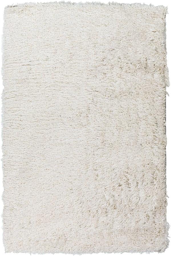 White, Metallic Silver (GLA-1001) Shag Area Rug