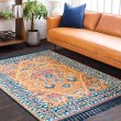Product Image of Burnt Orange, Yellow, Sky Blue, Navy, Peach Bohemian Area Rug