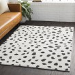 Product Image of White, Black, Charcoal Shag Area Rug