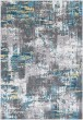 Product Image of Medium Grey, Charcoal, Teal, Saffron, White Abstract Area Rug