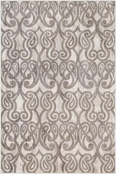 Medium Gray, Charcoal, White Contemporary / Modern Area Rug