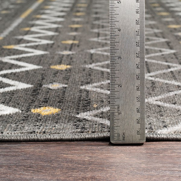 Charcoal, Medium Gray, Butter Moroccan Area Rug