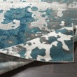 Product Image of Teal, Medium Gray Abstract Area Rug