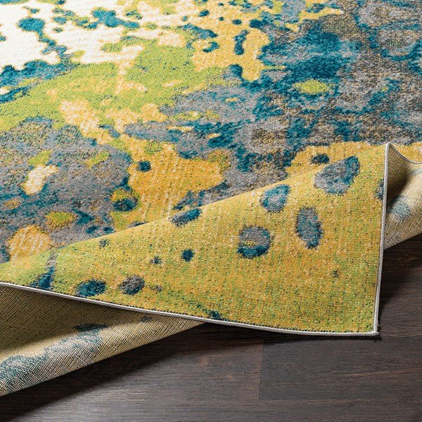 Butter, Lime Abstract Area Rug