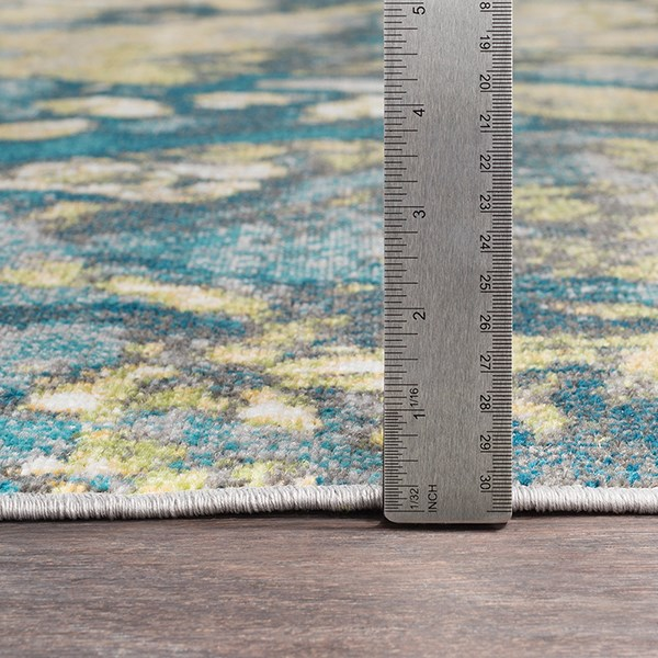 Butter, Teal Abstract Area Rug