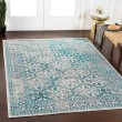 Product Image of Teal, Medium Gray, Teal Traditional / Oriental Area Rug