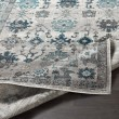 Product Image of Teal, Medium Gray Traditional / Oriental Area Rug