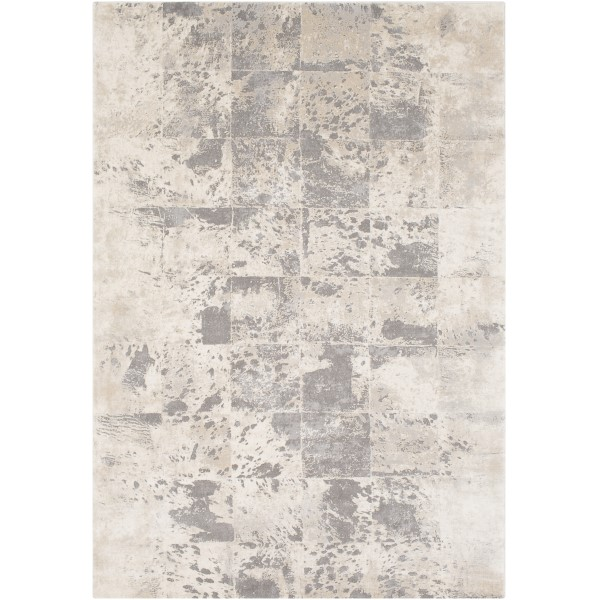 Khaki, Cream, Medium Grey, Taupe, Charcoal Contemporary / Modern Area Rug