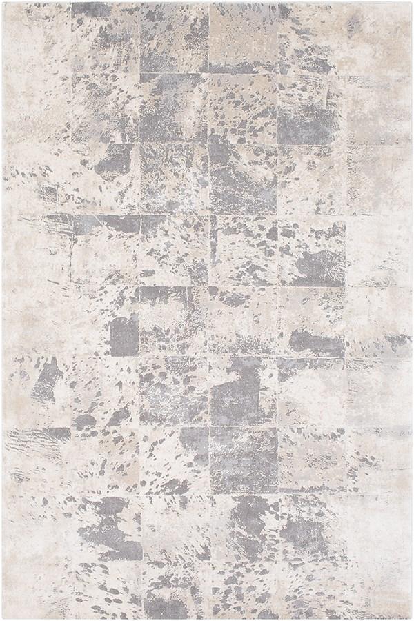 Khaki, Cream, Medium Grey, Taupe, Charcoal Contemporary / Modern Area Rug