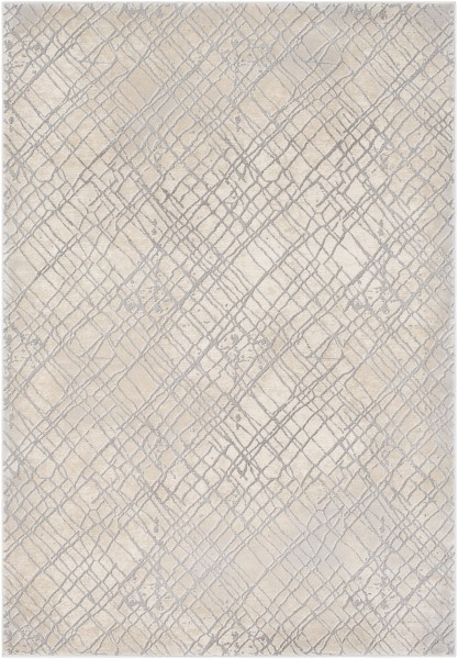 Medium Grey, Cream, Taupe, Charcoal Contemporary / Modern Area Rug