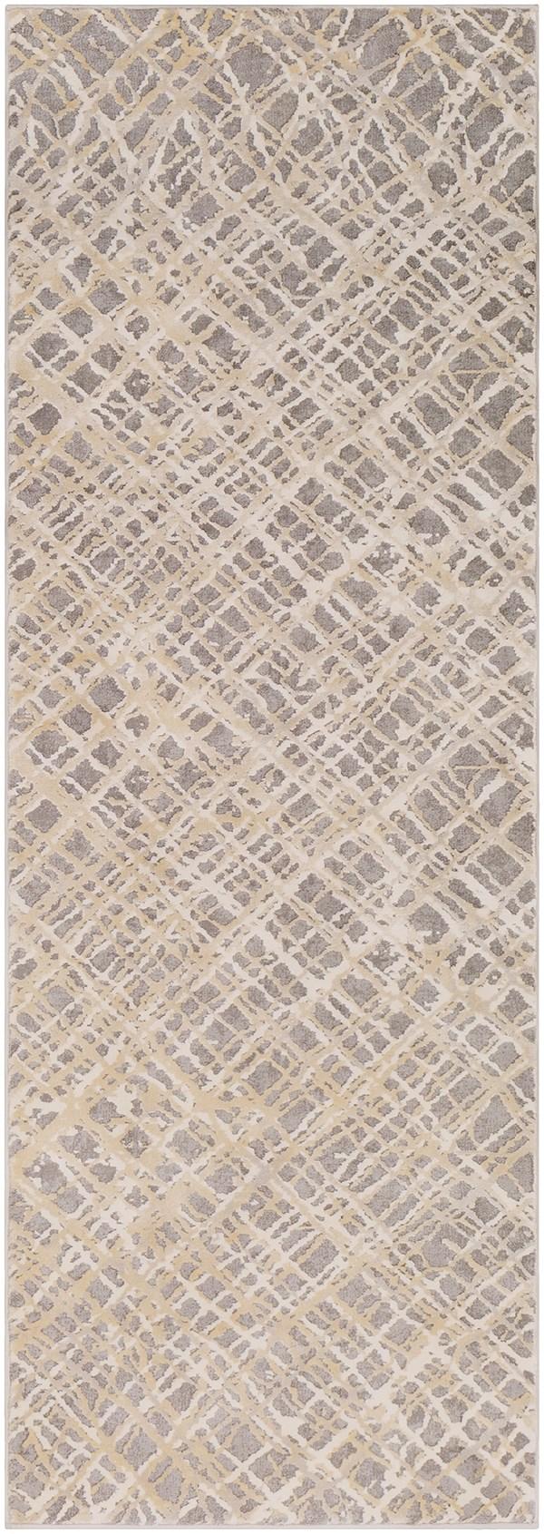 Taupe, Charcoal, Khaki, Cream, Grey Contemporary / Modern Area Rug