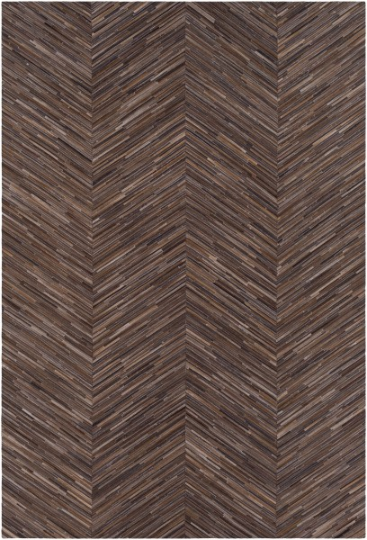 Dark Brown, Black, Brown (ZND-1000) Animals / Animal Skins Area Rug