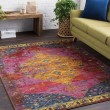 Product Image of Lilac, Dark Purple, Red, Yellow, Pink, Dark Blue Bohemian Area Rug