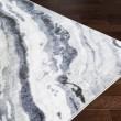 Product Image of Medium Gray, Black, Dark Blue Contemporary / Modern Area Rug