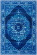 Product Image of Bright Blue, Sea Foam, Dark Blue Vintage / Overdyed Area Rug