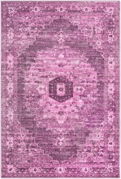 Bright Pink, Lilac, Coral Bohemian Area Rug