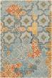 Product Image of Moroccan Aqua, Burnt Orange, Mustard, Charcoal (HNO-1005) Area Rug