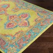 Product Image of Lime, Teal, Peach, Burnt Orange, Mustard, Coral Bohemian Area Rug