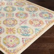 Product Image of Cream, Bright Orange, Lime, Teal, Coral, Mauve Moroccan Area Rug