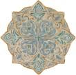 Product Image of Sky Blue, Aqua, Cream Transitional Area Rug