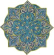 Product Image of Teal, Navy, Lime Transitional Area Rug