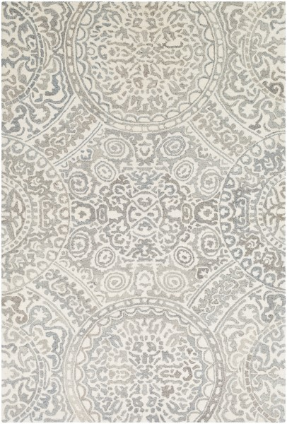 Camel, Cream, Taupe Contemporary / Modern Area Rug