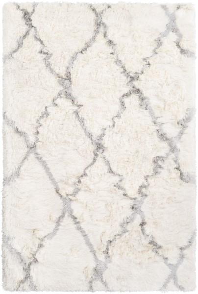 Cream, Light Grey (CSR-1000) Shag Area Rug