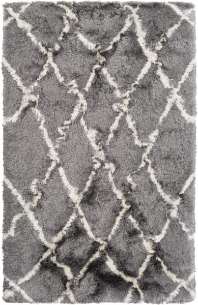Medium Grey, Cream (CSR-1006) Shag Area Rug