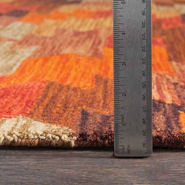 Terracotta, Bright Red Southwestern / Lodge Area Rug
