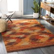 Product Image of Terracotta, Bright Red Southwestern / Lodge Area Rug