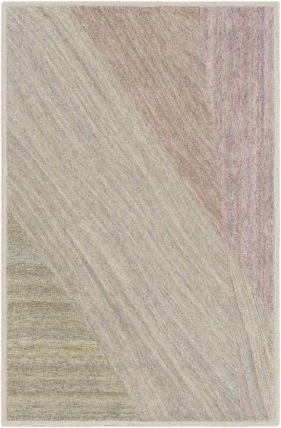 Ivory, Taupe, Khaki Contemporary / Modern Area Rug