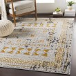 Product Image of Beige, Mustard, Bright Orange, Charcoal, Grey Transitional Area Rug