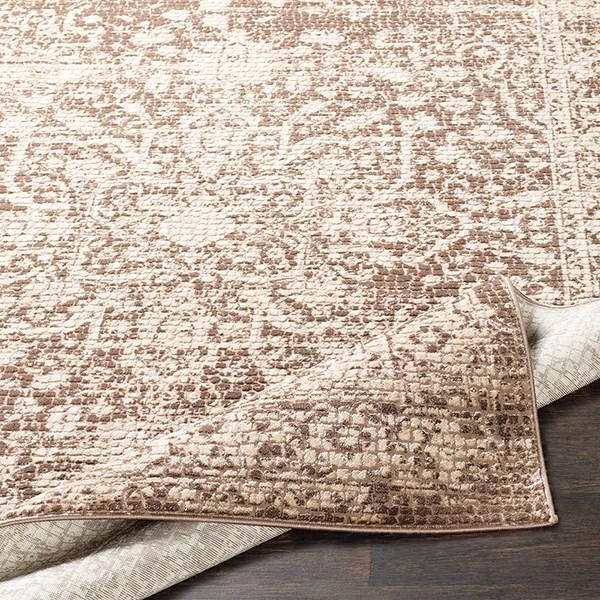 Beige, Dark Brown, Camel Vintage / Overdyed Area Rug
