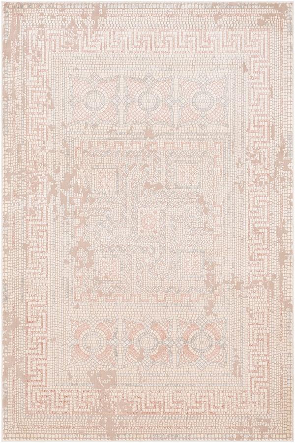 Beige, Rose, Camel, Medium Grey Vintage / Overdyed Area Rug