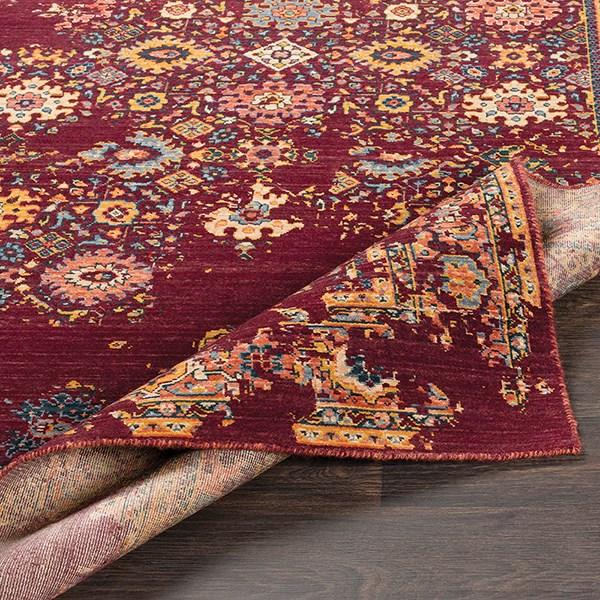 Red, Orange, Grey, Denim, Wheat, Saffron Vintage / Overdyed Area Rug