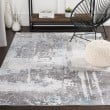 Product Image of White, Medium Gray, Pale Blue Abstract Area Rug