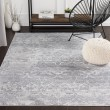 Product Image of Silver Gray, Medium Gray, White Vintage / Overdyed Area Rug