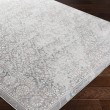 Product Image of Silver Gray, White, Pale Blue Vintage / Overdyed Area Rug