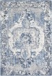 Product Image of Navy, Dark Blue, Pale Blue Vintage / Overdyed Area Rug