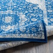 Product Image of Dark Blue, Pale Blue Vintage / Overdyed Area Rug