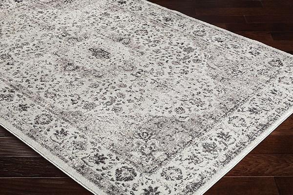 Medium Gray, Charcoal Traditional / Oriental Area Rug