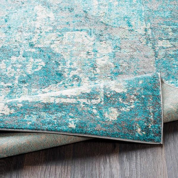 Aqua, Teal Vintage / Overdyed Area Rug