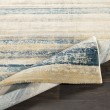 Product Image of Teal, Navy, Saffron Striped Area Rug