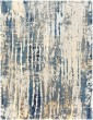 Product Image of Teal, Navy, Medium Gray Abstract Area Rug