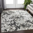 Product Image of Grey, White, Light Grey, Pale Blue, Cream Abstract Area Rug