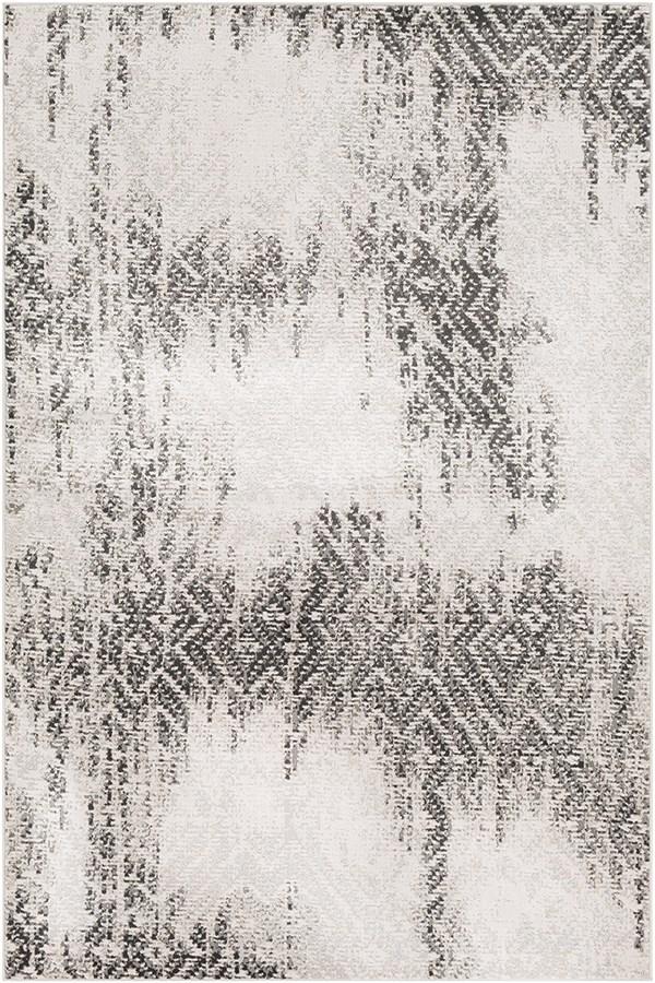 Camel, Taupe, White, Grey, Pale Blue, Black Vintage / Overdyed Area Rug