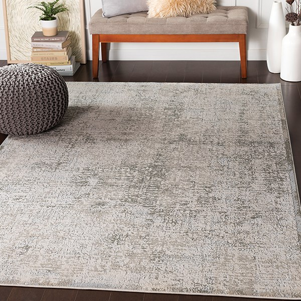 Light Grey, Grey, Cream Transitional Area Rug