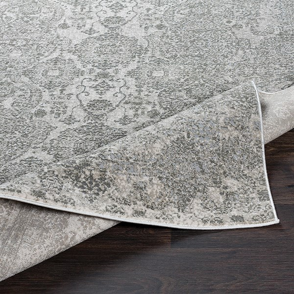 Grey, Light Grey, White Vintage / Overdyed Area Rug